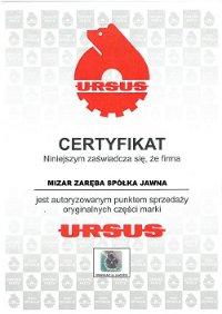 certyfikat ursus