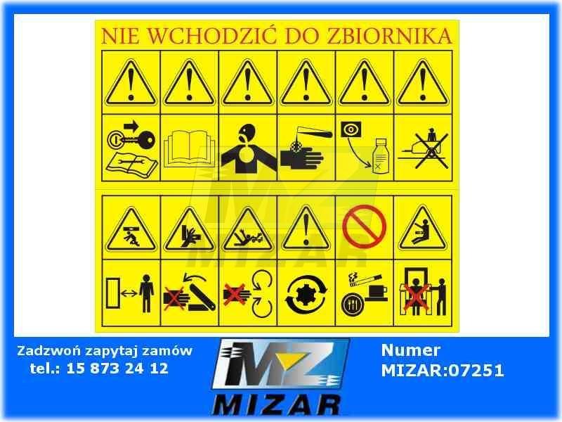 Poważne ETYKIETY SAMOPRZYLEPNE PIKTOGRAMY GRAFICZNE AO095 - id. 5728 - Mizar FT78