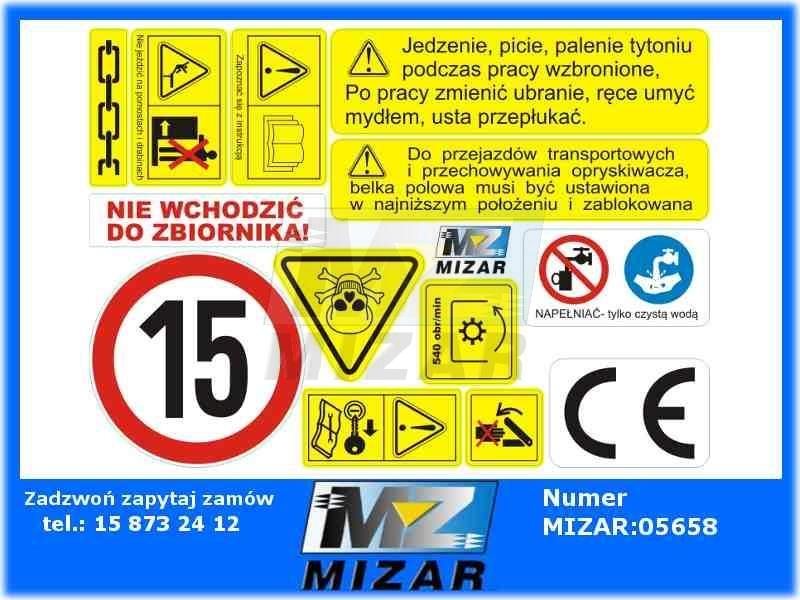 Aktualne ETYKIETY SAMOPRZYLEPNE KOMPLET 13szt. AO099 - id. 5721 - Mizar KZ92